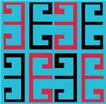 Light Blue Funky Tile