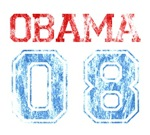 Obama 08 T-shirts. Distressed 'Obama 08' design. A