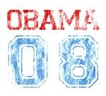 Obama 08 T-shirts. Distressed 'Obama 08' design. A