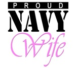 Navy Wife T-shirts. Proud Navy wife.