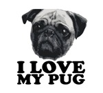 I love My Pug T-shirts.