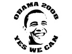 OBAMA 2008. YES WE CAN T-shirts. Support Barack Ob