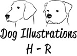 H-R Dog Illustrations