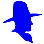 Blue Cowboy Silhouette
