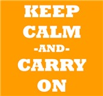 Keep Calm And Carry On (Orange)