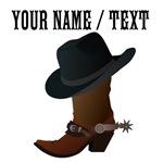 Custom Cowboy Boot And Hat
