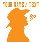 Custom Orange Smoking Cowboy