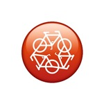 Recycle Bicycle Red