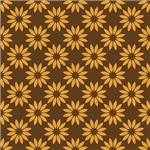 Yellow On Brown Daisy Flower Pattern