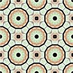 Orange and Green Octagon Pattern
