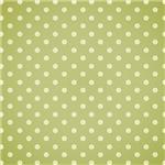 Cream On Green Polka Dots