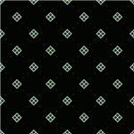 Green Diamonds On Black Pattern