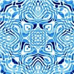 Light Blue Tribal Design