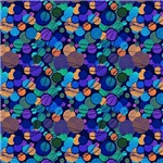 Blue, Green, and Purple Circles Pattern