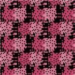 Pink and Black Digital Squares Pattern