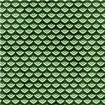 Pretty Green Scallops Pattern