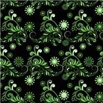 Pretty Green Flourish Pattern