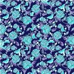 Blue Roses Pattern