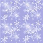 Purple Sparkly Snowflakes