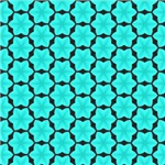 Bright Turquoise Six Point Star Pattern