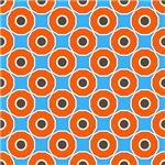 Orange and Purple Circles Pattern