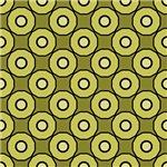 Green Circles In Circles Pattern