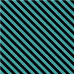 Turquoise and Black Diagonal Stripes