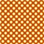 Pretty Orange India Inspired Star Pattern