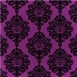 Large Purple Damask Pattern