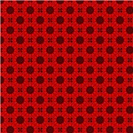 Red India Inspired Circles Pattern