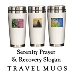 Serenity Prayer & Recovery Travel Mugs
