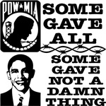 Obama Gave Nothing