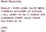 Dear Daughter Twerk