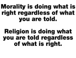 Morality Versus Religion