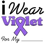 I Wear Violet Ribbon Hodgkin's T-Shirts & Gifts