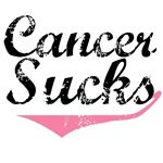 Grunge Style Cancer Sucks Breast Cancer T-Shirts