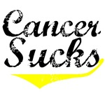 Grunge Cancer Sucks (Yellow) T-Shirts
