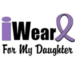 I Wear Violet Ribbon For My Daughter