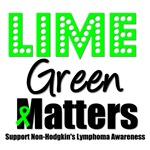 Lime Green Matters Non-Hodgkin's T-Shirts & Gifts