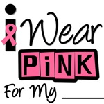 I Wear Pink Ribbon Breast Cancer Retro T-Shirts