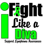 I Fight Like a Diva Lymphoma T-Shirts & Gifts