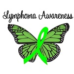 Lymphoma Awareness Butterfly T-Shirts & Gifts