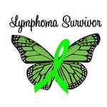 Lymphoma Survivor Butterfly T-Shirts & Gifts