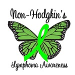 Non-Hodgkin's Lymphoma Awareness Butterfly T-Shirt