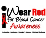I Wear Red Ribbon Blood Cancer T-Shirts & Apparel