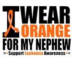I Wear Orange For My Nephew Leukemia Shirts