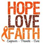 Hope, Love & Faith Leukemia Shirts & Gifts