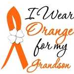 I Wear Orange Flower Grandson Leukemia Shirts