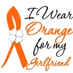 I Wear Orange Flower Girlfriend Leukemia Shirts