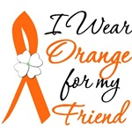 I Wear Orange Flower Friend Leukemia Shirts